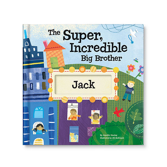 The Super, Incredible Big Brother Personalized Book with Medal