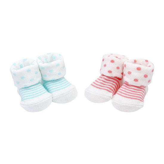 Carter's 2 Pair Baby Booties Girls-Baby