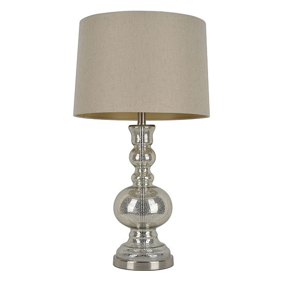 """Decor Therapy 29.5"""" Mercury Glass Table Lamp"""