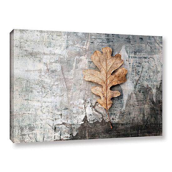 Brushstone Still Life Leaf Gallery Wrapped CanvasWall Art