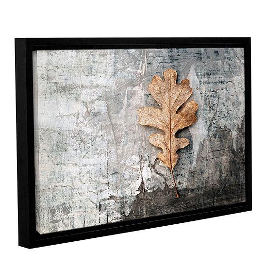 Brushstone Still Life Leaf Gallery Wrapped Floater-Framed Canvas Wall Art