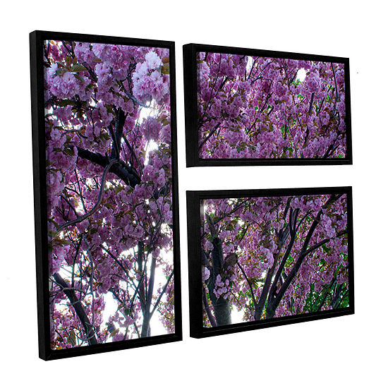 Brushstone Spring Flowers 3-pc. Flag Floater Framed Canvas Wall Art