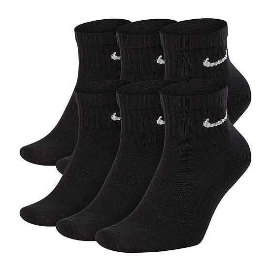 Nike 6 Pair Quarter Socks-Mens