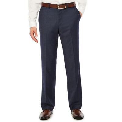 JF J.Ferrar Mens Geometric Stretch Slim Fit Suit Pants - Slim