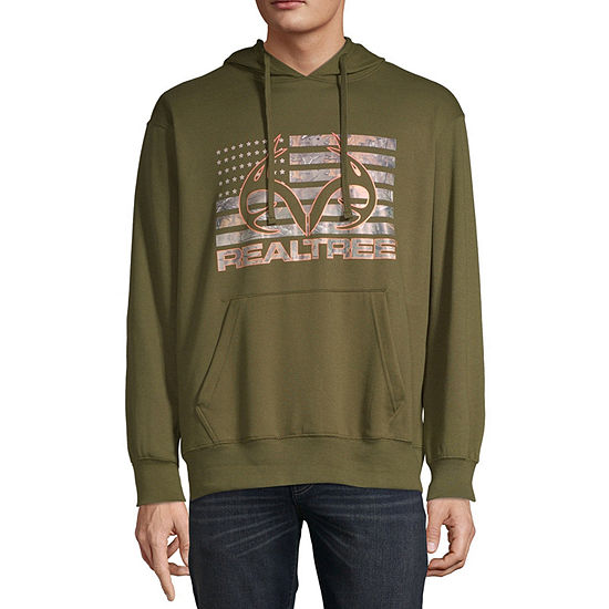 Realtree-Big and Tall Mens Long Sleeve Hoodie