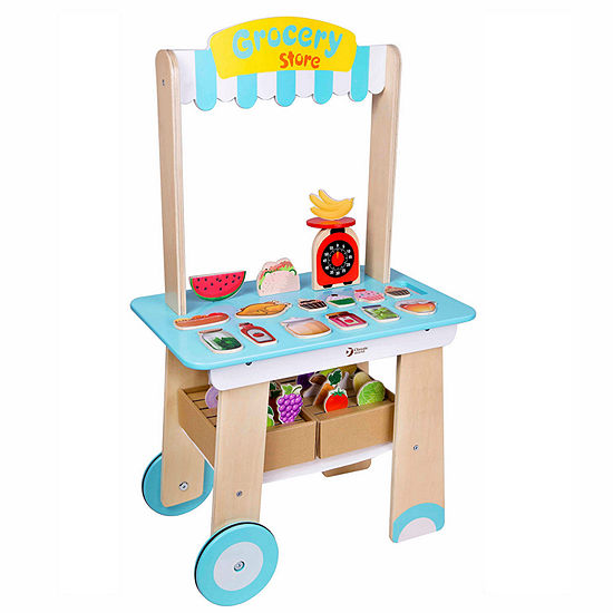 Classic Toy Wooden Grocery Store Playset