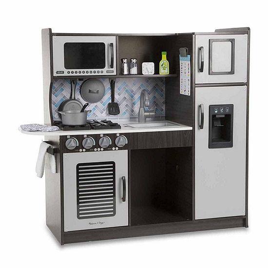 Melissa & Doug Chef's Kitchen - Charcoal and Accessory Set Bundle