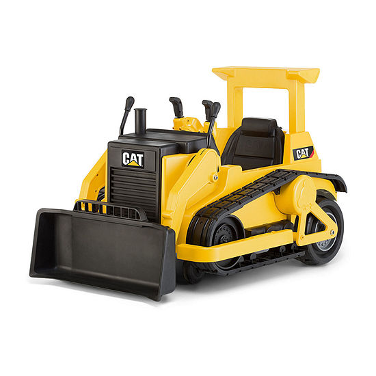 Kid Trax Caterpillar Cat Bulldozer 12volt Electric Ride-On In Cat Yellow