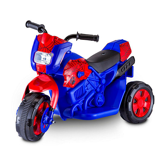 Kid Trax Spiderman Motorcycle 6Volt Electric Ride-on in Blue