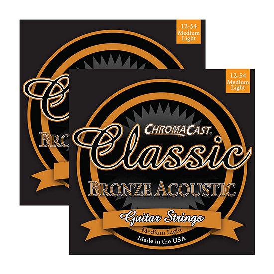 ChromaCast Classic Bronze Medium-Light Acoustic Guitar Strings - 2-Pack