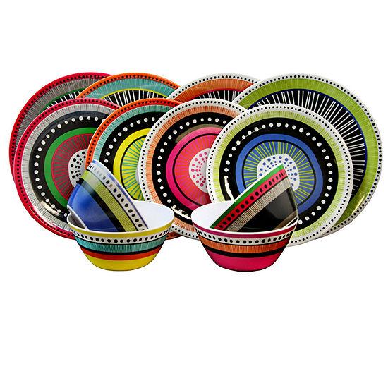 Gibson Almira 12-pc. Dinnerware Set  In 4 Assorted Colors