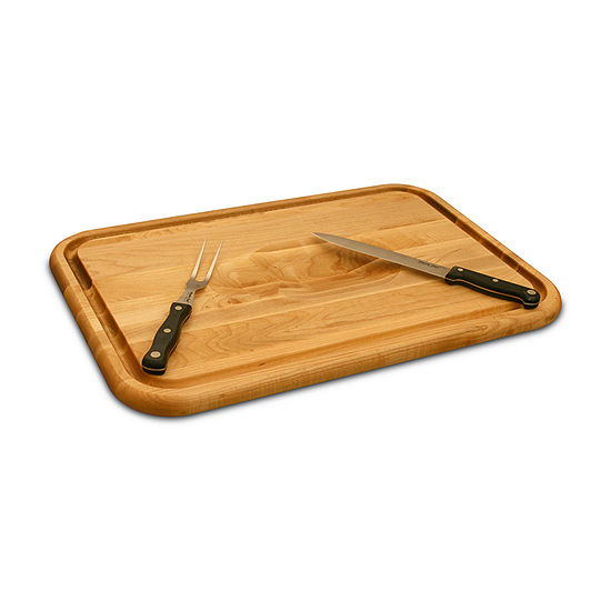 Versatile Meat Holding Wedge/Trench Cutting Board