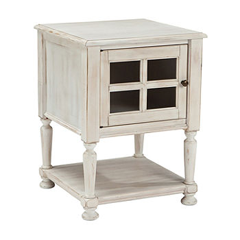 Signature Design By Ashley Mirimyn Storage Chairside Table Color White Jcpenney