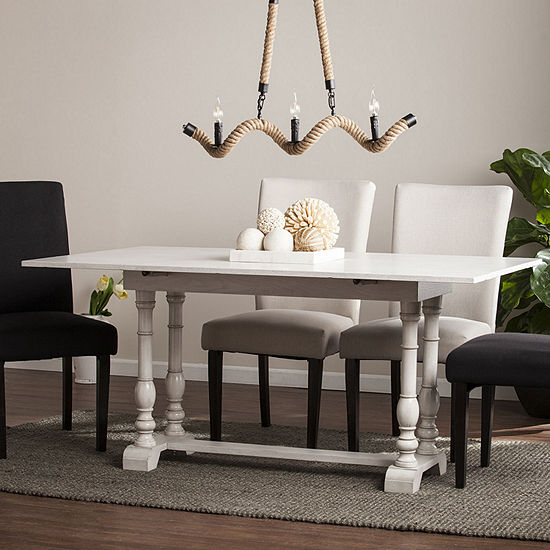 Wooden Door Kitchen Folding Trestle Console to Dining Table