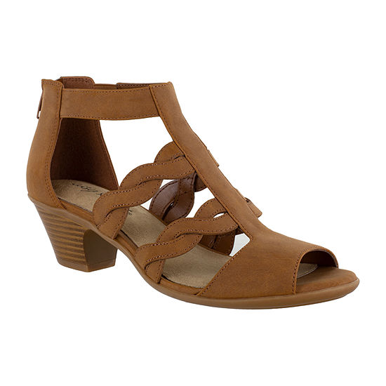 Easy Street Womens Daughtry Heeled Sandals