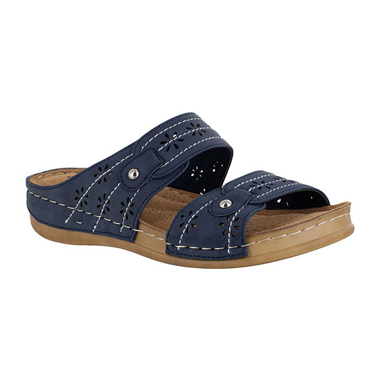 Easy Street Womens Slide Sandals