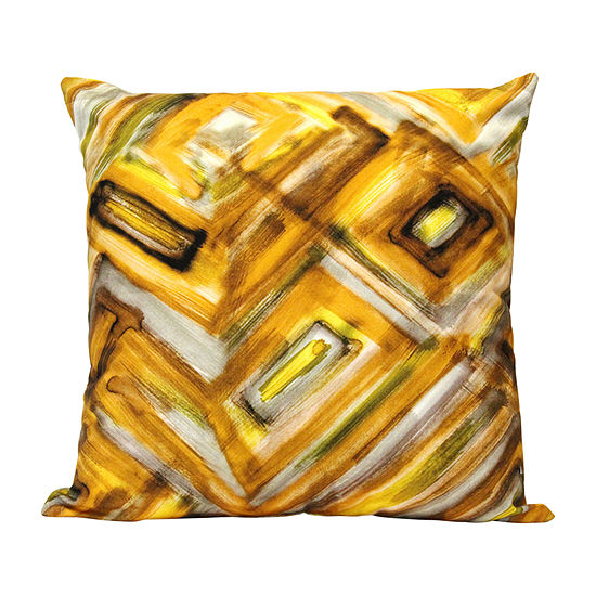 Stratton Home Decor Safari Abstract Square Throw Pillow