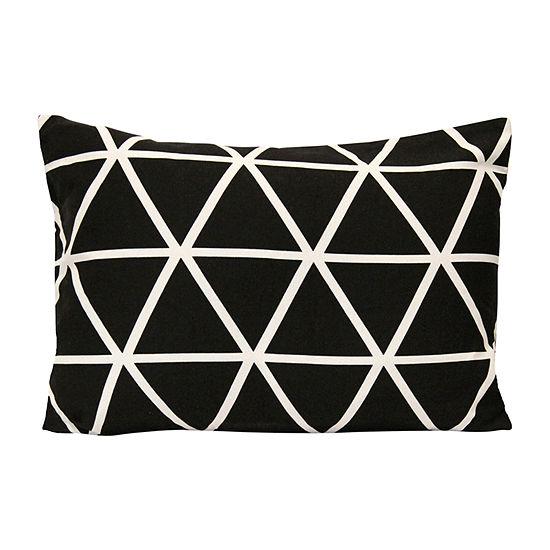 Stratton Home Decor Black And White Geometric Triangle Rectangular Throw Pillow