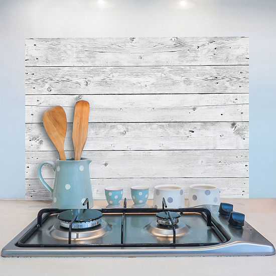 Brewster Wall Grey Wood Kitchen Panel Wall Decal
