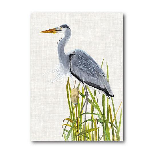 Waterbirds Cattails II Canvas Art