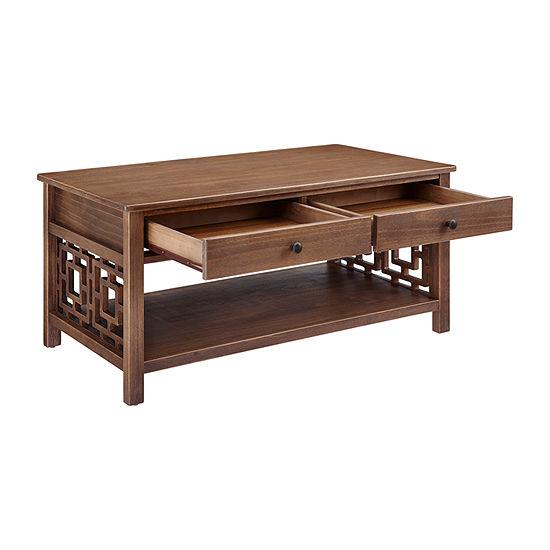 Linon 2-Drawer Coffee Table