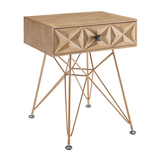 Linon 1-Drawer Storage End Table