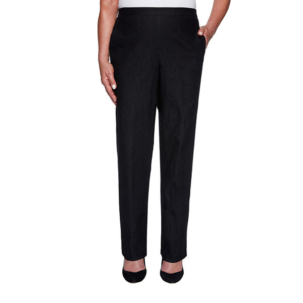 Alfred Dunner Well Red Womens Straight Pull-On Pants