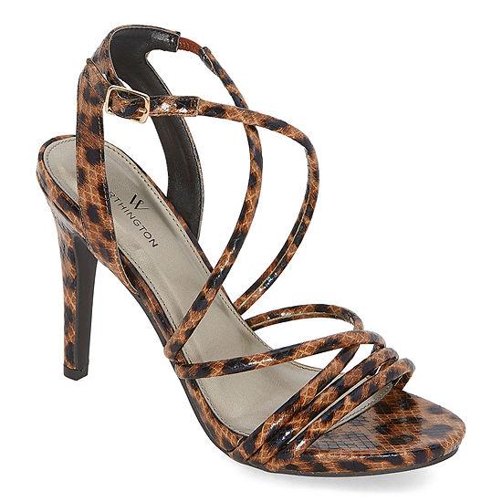 Worthington Womens Lavezzi Heeled Sandals