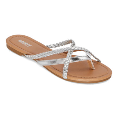 Mixit Womens Strappy Braided Flip-Flops