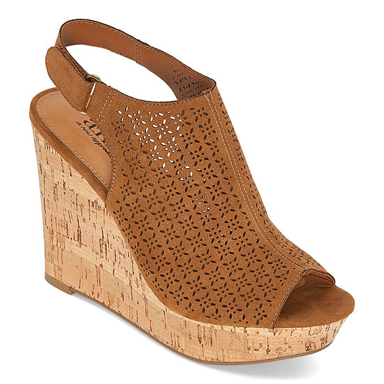 a.n.a. Womens Malik Wedge Sandals