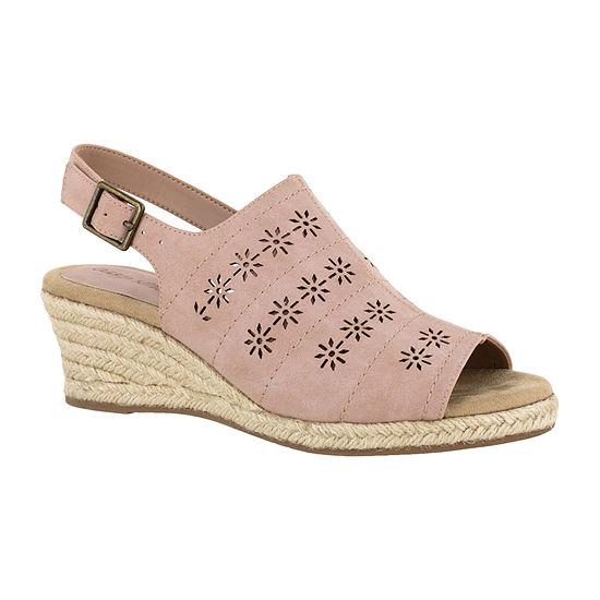 Easy Street Womens Joann Wedge Sandals
