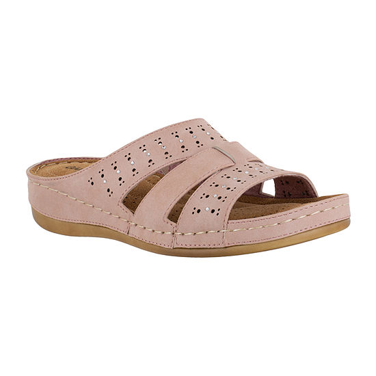 Easy Street Womens Riley Slide Sandals