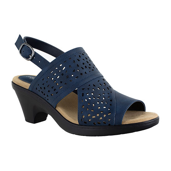 Easy Street Womens Charleigh Heeled Sandals