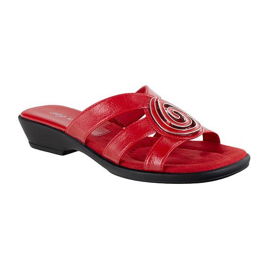 Easy Street Womens Thrive Slide Sandals