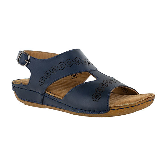 Easy Street Sloane Womens Adjustable Strap Footbed Sandals