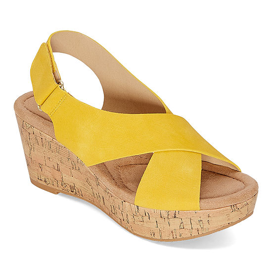 CL by Laundry Womens Darlin Wedge Sandals