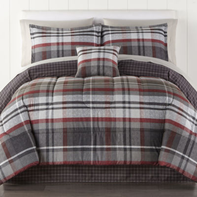 Home Expressions Russell Plaid Complete Bedding Set with Sheets
