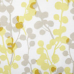 Home Expressions Bubble Yellow Floral Light-Filtering Rod-Pocket Single Curtain Panel