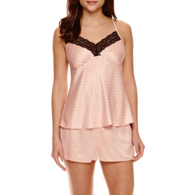 Ambrielle® Satin Chemise and Shorts