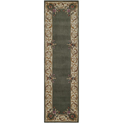 Momeni® Open Field Hand-Carved Wool Runner Rug