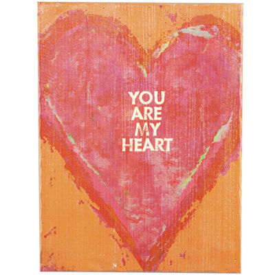 You are My Heart Textured Wood Wall Decor