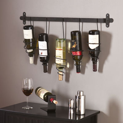 Almeria Wall Mount Wine Rack Wall Decor