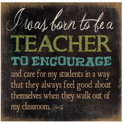 Born To Be a Teacher Canvas Wall Art