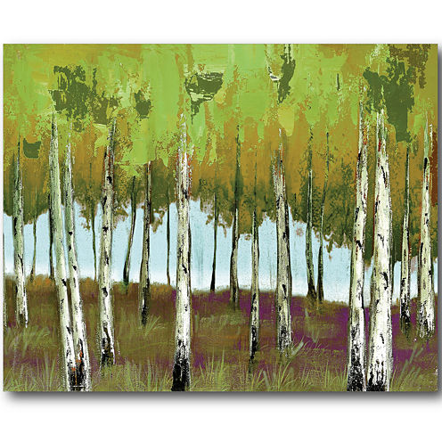 Birch Tree Forest Canvas Wall Art