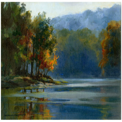 Lake View Canvas Wall Art