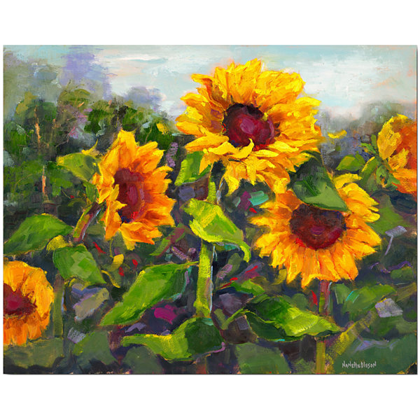 Delicieux Sunflower Canvas Wall Art