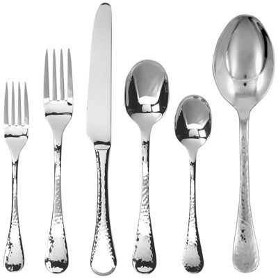 Ginkgo® Lafayette 42-pc. Hammered Flatware Set
