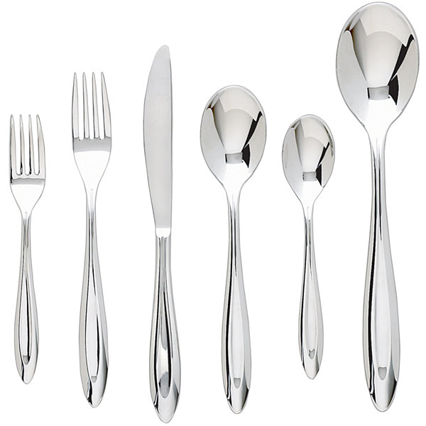 Ginkgo® Fontur™ Platinum 42-pc. Flatware Set