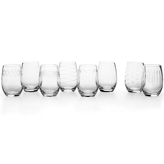 Mikasa® Cheers Set of 8 Stemless Wine Glasses