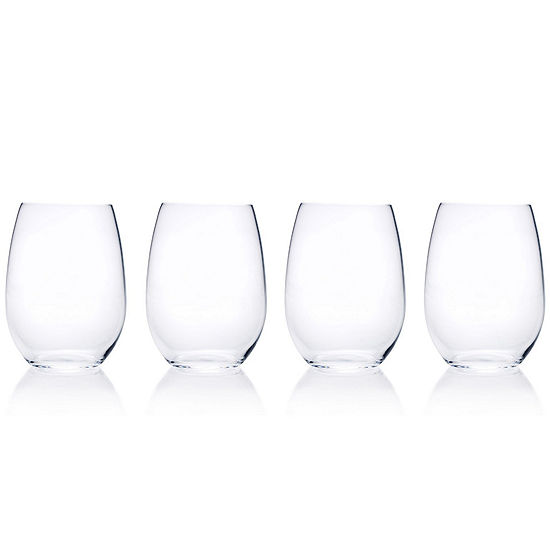 c8030bf6dca Mikasa® Laura Set of 4 Crystal Stemless Wine Glasses